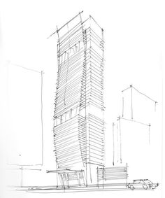 JDS Real Estate Development Group is responsible for the iconic Echo Brickell at 1451 Brickell Avenue, located in Miami, FL Architecture Concept Drawings, Architecture Graphics, School Architecture, Architecture Design, Building Drawing, Building Sketch, Building Concept, Mix Use Building, High Rise Building