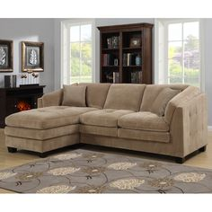 """Myrtle 97.6"""" Tufted Left-Facing Sectional Sofa"""