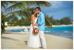 Colorful groom attire for a simple beach wedding at smiths cove on Grand Cayman