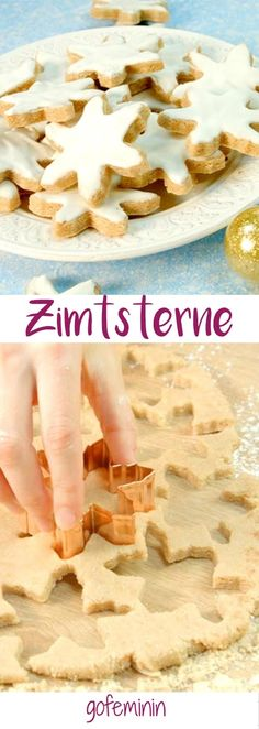 As with grandma: the best recipe for perfect cinnamon stars - Schnelle Plätzchen-Rezepte - cupcakes I Love Food, Good Food, Yummy Food, Xmas Food, Christmas Baking, Christmas Recipes, Paleo Dessert, Dessert Recipes, Yummy Recipes