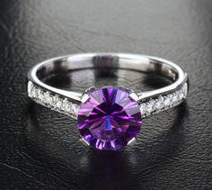 Purple/Amethyst Diamond Ring