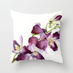 Pretty! Radiant Orchids: Magenta Cymbidiums Throw Pillow by Cindy Lou Bailey  - $20.00.