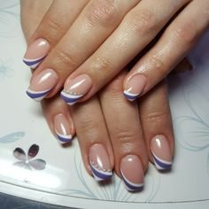 53 Ideas for nails winter purple toe Fancy Nails, Trendy Nails, Cute Nails, Nail Tip Designs, French Nail Designs, French Nail Art, French Tip Nails, Nail Manicure, Diy Nails