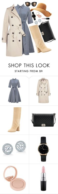 """""""As modest as I can"""" by notosuper on Polyvore featuring Burberry, Stuart Weitzman, Chanel, Freedom To Exist, Bourjois and MAC Cosmetics"""
