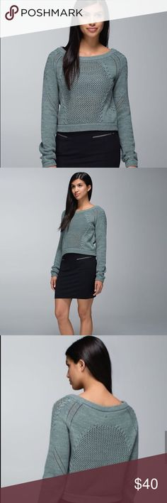 Lululemon Be Present Sweater ✔Crop Length ✔100% Cotton ✔No Holes, Stains or Damages lululemon athletica Sweaters