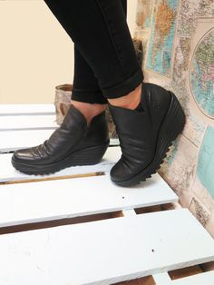 Yip is a Fly London classic, this comfy wedge boot adds the fun to functional.