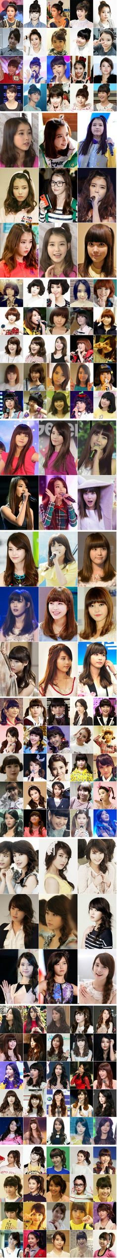 So many picture's of IU's hair! :O I love her! :)