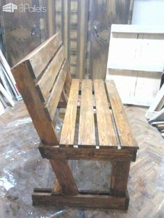 Diy : Benches from 2 Pallets Pallet Benches, Pallet Chairs & Stools #Palletbenches