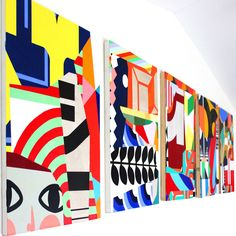 saatchi interview Inside The Studio: William LaChance (USA) By Saatchi Art · January 2015 · Inside the Studio · Tagged: Featured William LaChance What are the major themes you pursue in your. Art And Illustration, Abstract Pattern, Abstract Art, Pop Art, Giant Wall Art, Bright Art, Colorful Artwork, Art Design, Geometric Art