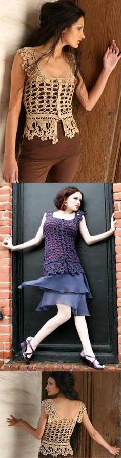 crochet lace vest $