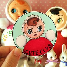 GIANT Cute-Club Kitsch Chime Doll Roly-Poly by CuteClubShop