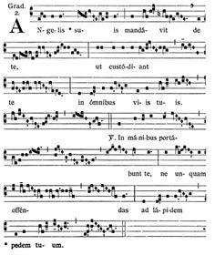Gregorianischer Choral: SS. Angelorum Custodum: Graduale: Angelis suis