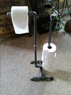 Black pipe toilet paper holder..all of these pieces are for sale