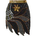 Rodarte Silver And Gold Hand Beaded Skirt