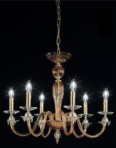 OR Lampadario in vetro soffiato 108/6 c