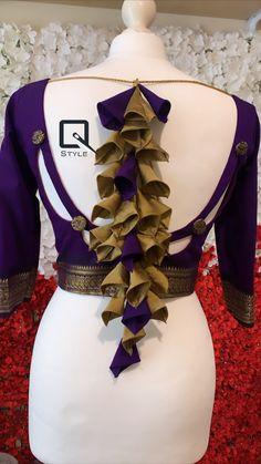 Black Saree Designs, New Saree Blouse Designs, Saree Jacket Designs, Choli Blouse Design, Blouse Designs Catalogue, Hand Work Blouse Design, Simple Blouse Designs, Stylish Blouse Design, Choli Designs