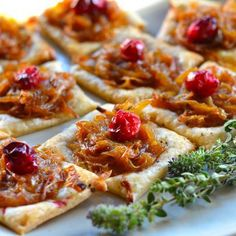 Caramelized Onion and Cranberry Puff Pastry Bites Recipe