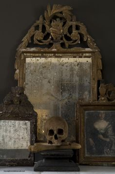 beautiful antique mirror. you can't see yourself but the fogged reflection and frame makes the piece.