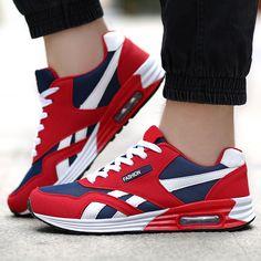 shoespie Color Block Lace Up Men's Sneakers