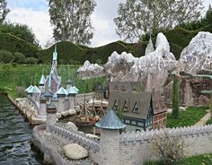 Arendelle from the Animated Film, Frozen . Storybook Land Canal Boats .