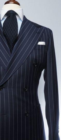 Navy Blue Pinstripe Suit, Yellow Suit, Black Suits, Dress Suits For Men, Mens Suits, Men Dress, Dress Shoes, Double Breasted Suit Men, Suit Fashion