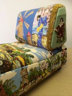 Needlepoint Tapestry | Eclectic Chair Upholstery