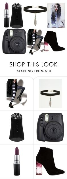 """lynx 4"" by tay-mew on Polyvore featuring Rat Baby, ASOS, Manon Baptiste, Fuji, MAC Cosmetics and Nicholas Kirkwood"