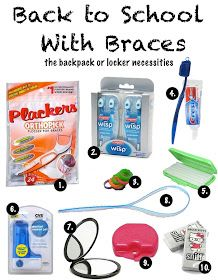 BracesBracesBraces.com: Back-to-School With Braces: The Backpack or Locker Necessities