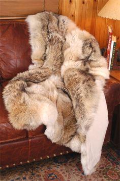Coyote Fur Throw or Blanket