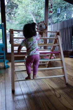 Help your child learn how her body movies and climbs. Perfect for Montessori babies and RIE environments