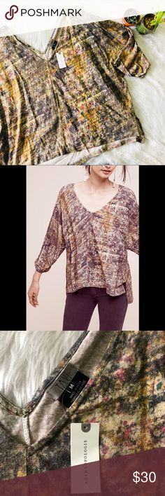 NWT Anthropologie Flowy Top This top is brand new!  Size medium  Smoke and pet free home! No flaws like stains or holes! No modeling No trades! OFFERS WELCOME!😊 Anthropologie Tops