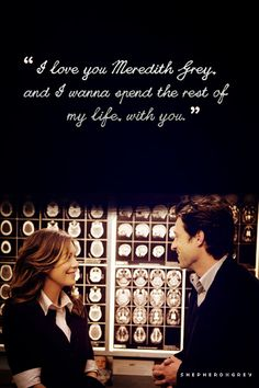 Elevator Love Letter, Grey's Anatomy. Derek's proposal to Meredith - the most beautiful thing I've ever heard <3