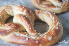 The most delicious vegan soft pretzels you'll ever make, sprinkled with pink himalayan sea salt! #MapleAlps #Vegan Whole Food Diet, Whole Food Recipes, Vegan Recipes Easy, Vegetarian Recipes, Pink Himalayan Sea Salt, Vegan Baking, Vegan Food, Soft Pretzels, Bread And Pastries