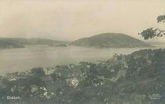 Akershus fylke Frogn kommune Drøbak oversikt tidlig 1900-tall Utg C. A. Erichsen