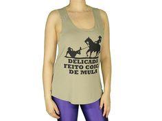 Regatas Femininas | Regata Cavada Longa Delicada Feito Coice de Mula Bege  Acesse: http://www.spbolsas.com.br/atacado/ #Regatas #Femininas #Atacado