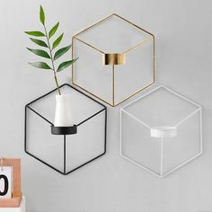 Minimalist Geometric Nordic Style Iron Candle Holders For Small Tealight Candles Simple Elegant Interior Wall Decor Scandinavian Home Styling Tea Light Candles, Tea Lights, Pillar Candles, Home Decor Styles, Diy Home Decor, Wall Candle Holders, Candle Wall Decor, Modern Candle Holders, Geometric Decor