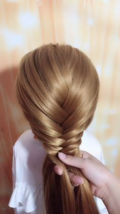 """BRAID HAIR IDEAS, Easy hairstyles, """" Learning how to do a basic three-strand braid gives you the foundation from which you can create other, more complicated braids. gathering the. Short Textured Hair, Short Brown Hair, Short Straight Hair, Straight Hairstyles, Braided Hairstyles, Girl Hairstyles, Summer Hairstyles, Braiding Your Own Hair, Braids For Short Hair"""