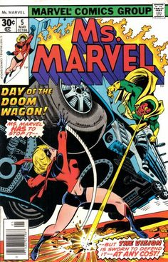 Ms. Marvel # 5 by Ed Hannigan & Joe Sinnott