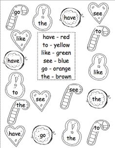 sight word coloring.