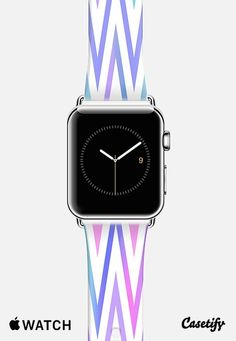 Pastel White Chevron Apple Watch Band case by Organic Saturation | Casetify