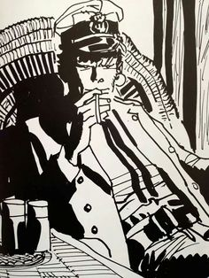 ©Hugo Pratt Bd Comics, Manga Comics, Maltese, Magazine Cover Page, Hugo Pratt, Book Creator, Dylan Thomas, Comic Page, Comic Strips