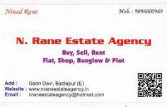 Available New Flat 1 BHK on Rent at Badlapur West, Manjarli, Lowest Rent in The Market, 1st floor, Deposit Rs.25000, Rent Rs.3000, Call N.RANE ESTATE AGENCY, NINAD RANE, 9096600969 .