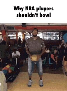 NBA shouldn't bowl! funny pics, funny gifs, funny videos, funny memes, funny jokes. LOL Pics app is for iOS, Android, iPhone, iPod, iPad, Tablet