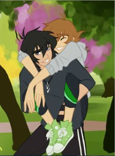 Piggy Back- Keith and Pidge from Voltron Legendary Defender