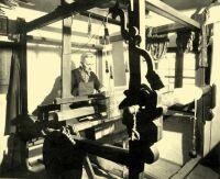 The loom of a professional weaver Nagyvázsony, Veszprém County, Hungary