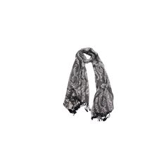Pashmina Floral Cinza Chumbo de Viscose #pashmina #pashimina #modafeminina #fashion #scarf #scarfs