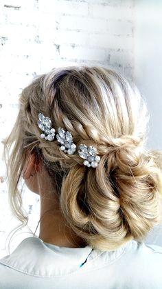 Bridal Headpiece Wedding Headpiece Bridal Head Pin #wedding #hairstyles