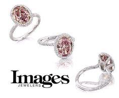Anniversary ring, pink diamonds