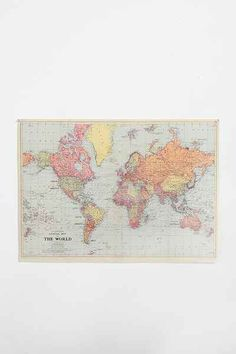 32x23 Deluxe Scratch-Off World Map - Urban Outfitters
