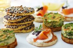 Gluten free blinis, going to try to make these soon
